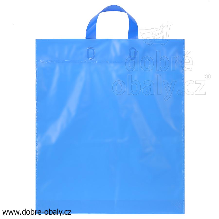 b0d80b94fa Igelitová taška s uchem LDPE MODRÁ