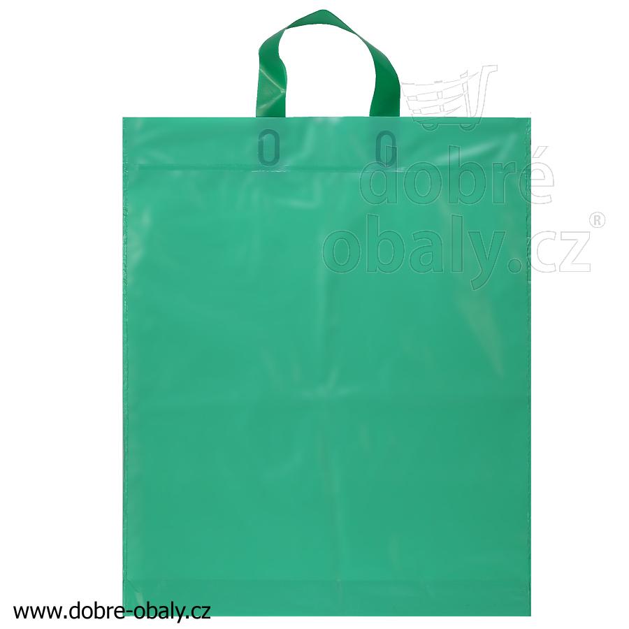 54733ba134 Igelitová taška s uchem LDPE ZELENÁ