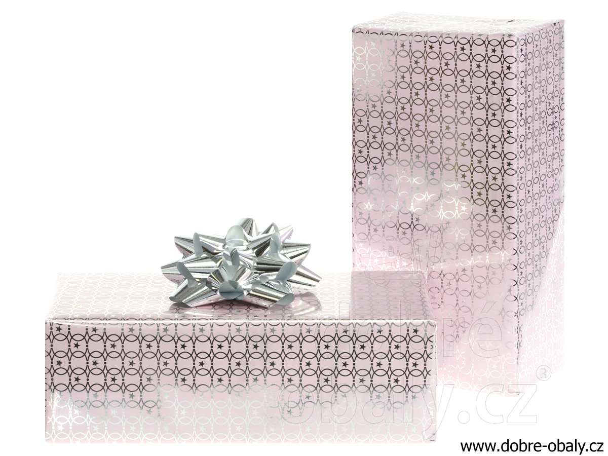 c5a153d3a Luxusní vánoční balicí papír Platinum - růžový | Dobré obaly