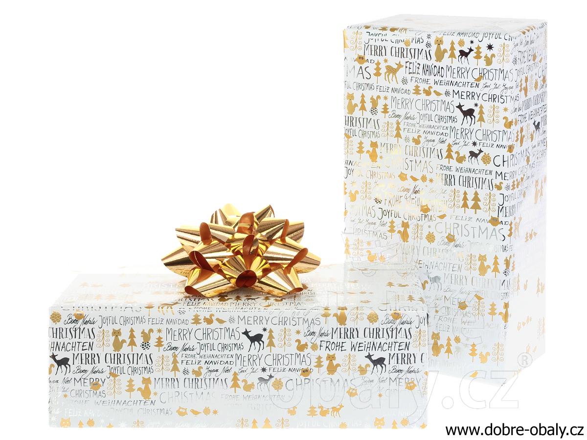 5bd18339d Luxusní vánoční balicí papír Platinum - text | Dobré obaly